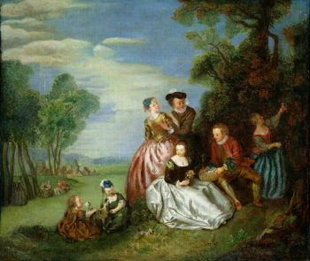 Conversation in a Park | Jean Baptiste Joseph Pater | oil painting