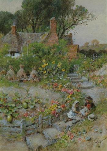 Cottage Garden in Summer | William Stephen Coleman | oil painting