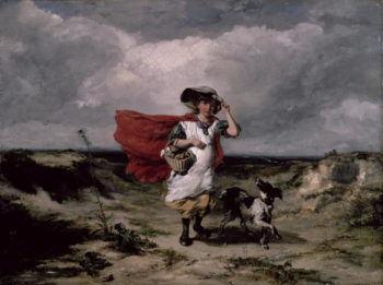Crossing the Heath Windy Day 1836 | Paul Falconer Poole | oil painting