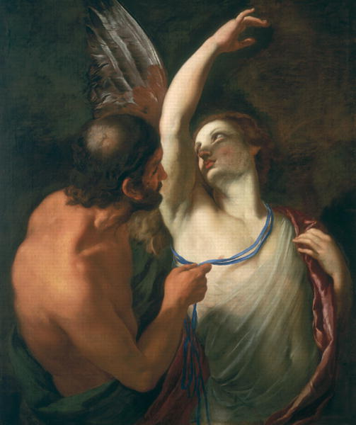 Daedelus and Icarus   Andrea Sacchi   oil painting