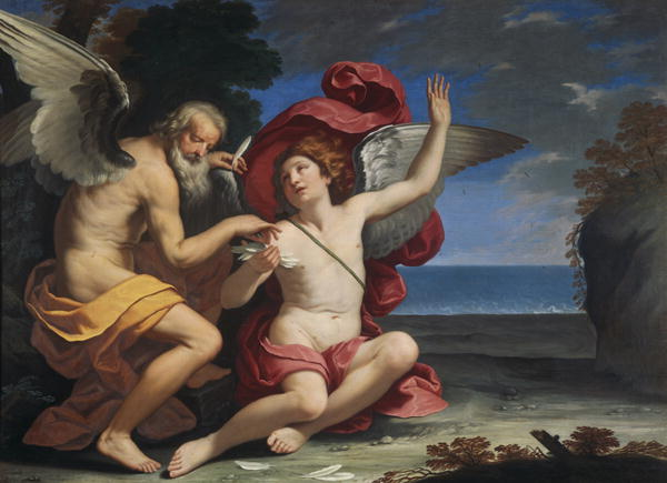 Daedelus and Icarus | Simone Cantarini | oil painting
