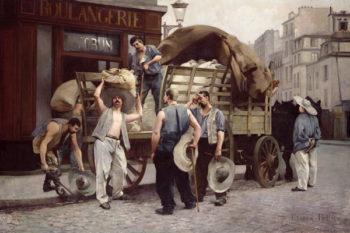 Delivering Flour 1885   Louis Robert Carrier Belleuse   oil painting