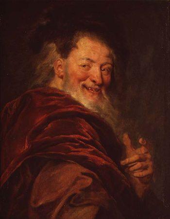 Democritus   Antoine Coypel   oil painting