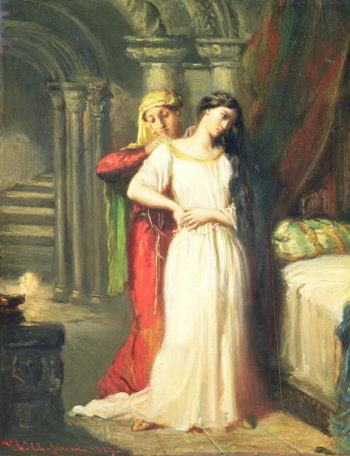 Desdemona Retiring to her Bed 1849   Theodore Chasseriau   oil painting
