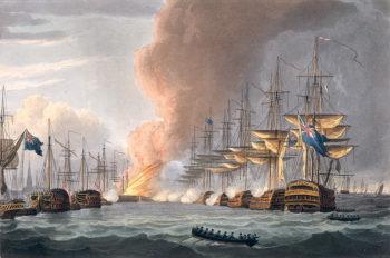 Destruction of the Danish Fleet before Copenhagen 1816 | Thomas Whitcombe | oil painting