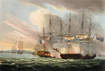 Destruction of the French Fleet in Basque Roads | Thomas Whitcombe | oil painting