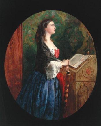 Devotion 1858   Philip Hermogenes Calderon   oil painting