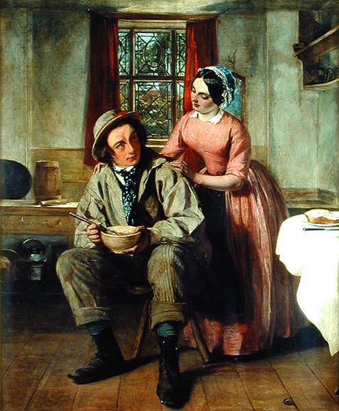 Dickens in the character of Sir Charles Coldstream | Augustus Egg | oil painting