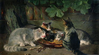 Dinner Time | Julius Adam | oil painting