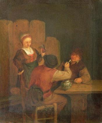 Domestic Interior | Adriaen Brouwer | oil painting