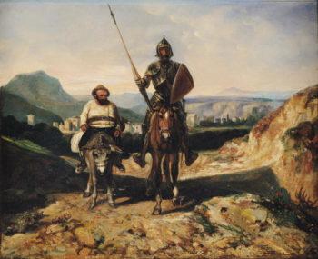 Don Quixote and Sancho | Alexandre Gabriel Decamps | oil painting