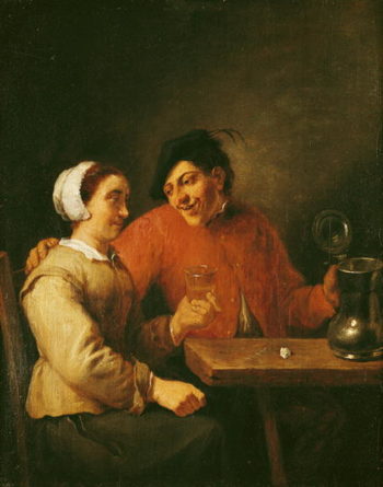 Drinkers | Adriaen Brouwer | oil painting