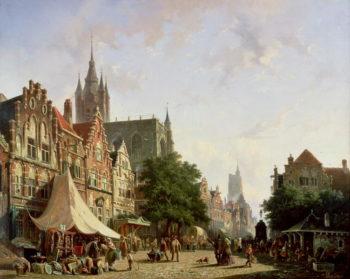 Dutch Street Scene | Adrianus Eversen | oil painting