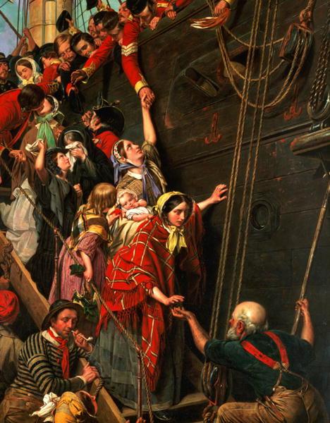 Eastward Ho 1859 | Henry Nelson O'Neil | oil painting