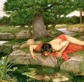 Echo and Narcissus 1903 | John William Waterhouse | oil painting