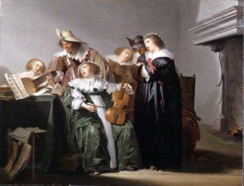 Elegant Figures Music Making in an Interior | Pieter Codde | oil painting