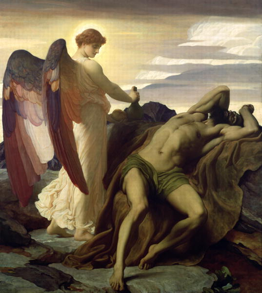 Elijah in the Wilderness 1877 8 | Frederic Leighton | oil painting