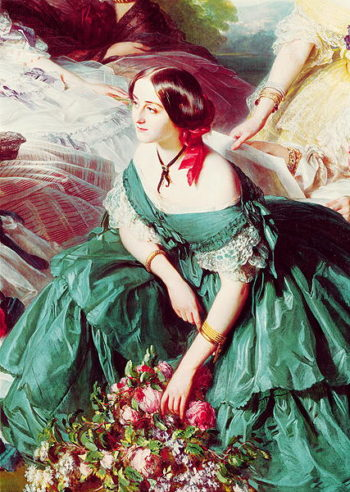 Empress Eugenie and her Ladies in Waiting detail of the Marquise of Montebello 1855 | Franz Xavier Winterhalter | oil painting