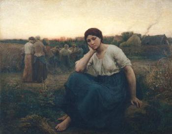 Evening 1860 | Jules Breton | oil painting