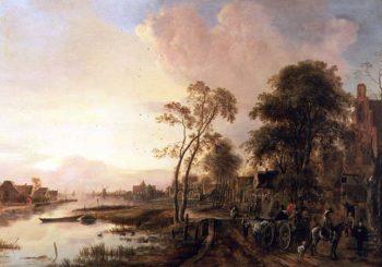 Evening Landscape | Aert van der Neer | oil painting