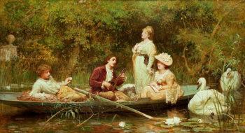 Fair quiet and sweet rest | Sir Samuel Luke Fildes | oil painting