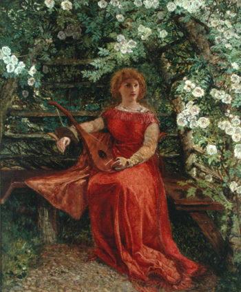 Fair Rosamund in her Bower   William Bell Scott   oil painting
