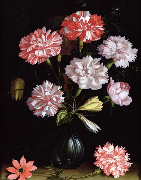 Floral Study Carnations in a Vase | Balthasar van der Ast | oil painting