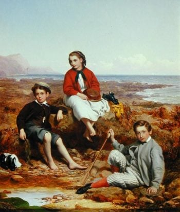 Florence Arthur and Charles Moore 1868 | William Crosby | oil painting