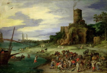 Fishermen on the Shore | Jan the Elder Brueghel | oil painting