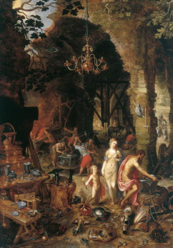 Fire Allegory of the Elements | Jan the Elder Brueghel | oil painting