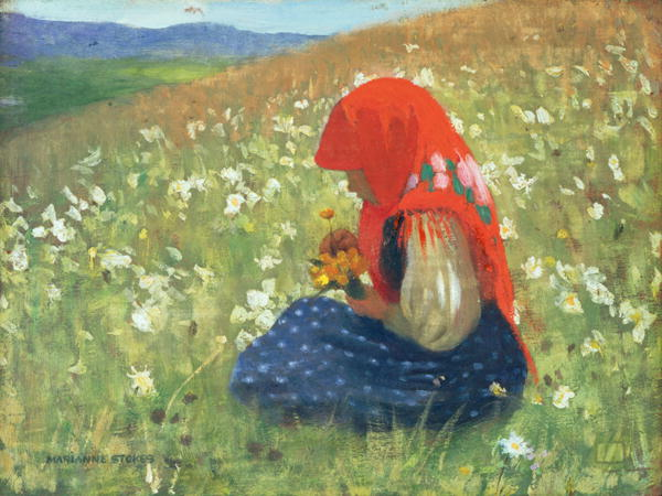 Girl of the Tatra 1905 07 | Marianne Stokes | oil painting