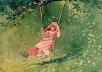 Girl on a Swing | Winslow Homer | oil painting