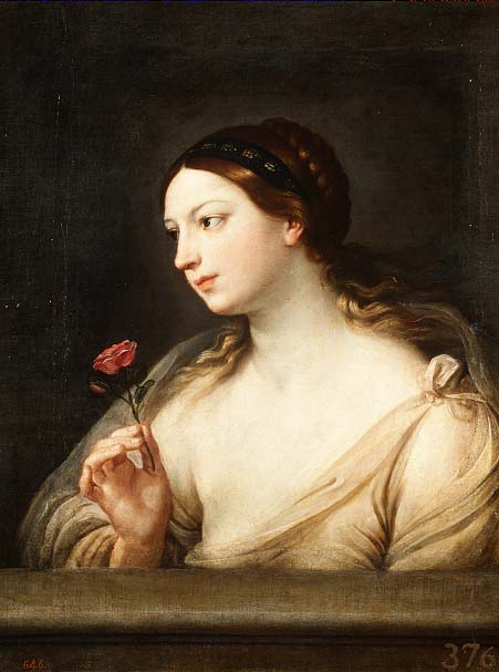 Girl with a Rose   Guido Reno   oil painting