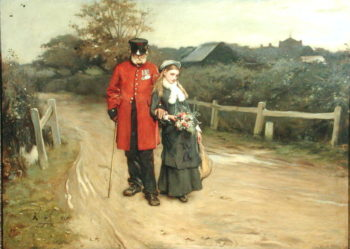 Going Home 1877 | Frank Holl | oil painting