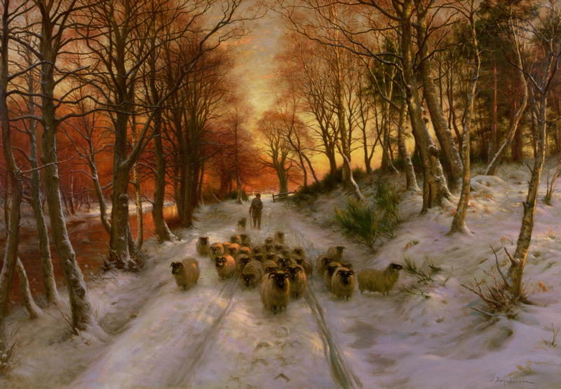 Glowed with Tints of Evening Hours   Joseph Farquharson   oil painting