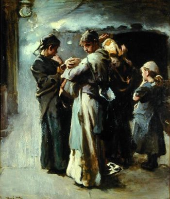 Gone   Frank Holl   oil painting