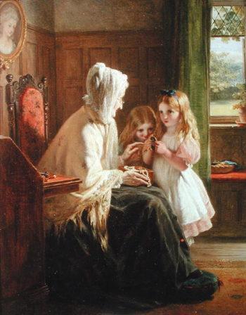 Gran's Treasures 1866 | George Bernard O'Neill | oil painting
