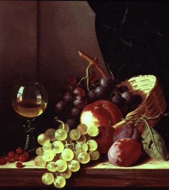 Grapes and plums   Edward Ladel   oil painting