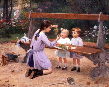 Grape tasting | Victor Gabriel Gilbert | oil painting