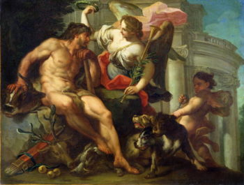 Hercules Crowned by Fame | Sebastiano Conca | oil painting