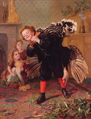 Here Comes the Gobbler1877 | Sophie Anderson | oil painting