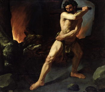 Hercules and Cerberus 1634 | Francisco de Zurbaran | oil painting