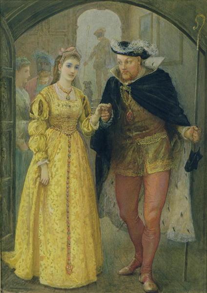 Henry VIII and Anne Boleyn | Arthur Hopkins | oil painting