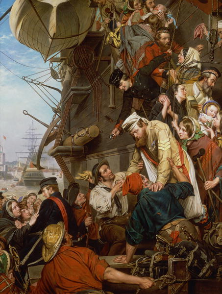 Home Again 1858 | Henry Nelson O'Neil | oil painting