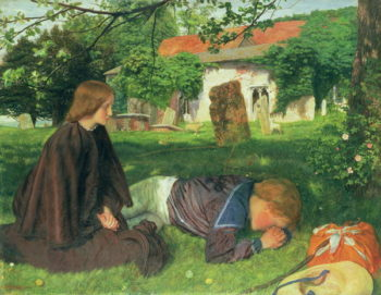 Home from the Sea 1862   Arthur Hughes   oil painting