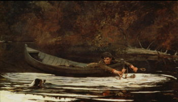 Hound and Hunter 1892 | Winslow Homer | oil painting