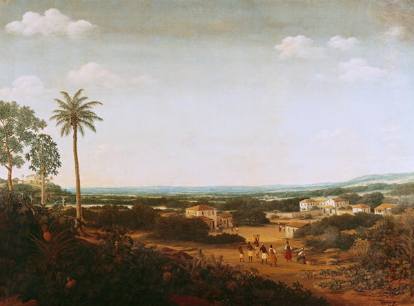 House of a Portuguese Nobleman in Brazil | Frans Jansz Post | oil painting