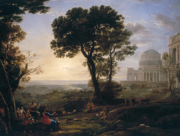 Imaginary View of Delphi with a Procession | Claude Lorrain | oil painting