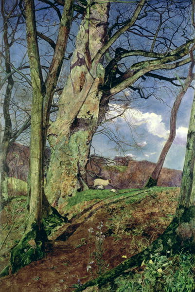 In Early Spring A Study in March   John William Inchbold   oil painting
