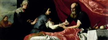 Isaac Blessing Jacob 1637 | Jusepe de Ribera | oil painting